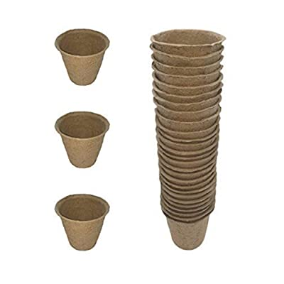 Kle/Garden.Dep. Pack of 30 Biodegradable Peat Pots Seed Planters, Seed Starting Pots: Garden & Outdoor