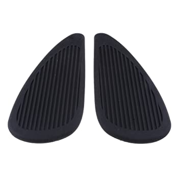 Baoblaze Adhesive Traction Pad Tank Grip Side Fuel Gas Tank Decal Protector for Motorcycle Motorbike