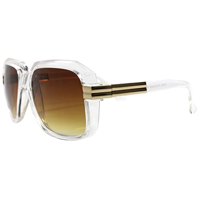 8d970120a8 Look Rich Famous Swag Dope Hip Hop Rapper DJ Oversized Crystal Square  Sunglasses  Amazon.ca  Clothing   Accessories