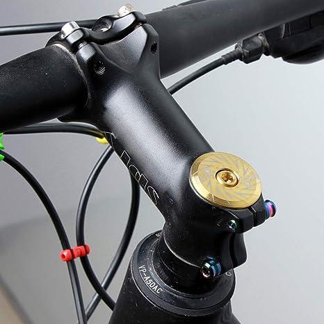 CLISPEED Fahrrad Headset Cap Cover Kappe Schrauben Stammabstandshalter Titanlegierung Vorbau Top Cap f/ür Radfahren MTB Mountainbike Gabelrohrabdeckung Fahrrad Zubeh/ör