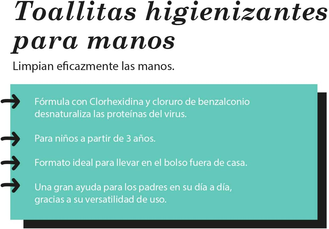 Toallitas Higienizantes de Manos Ni/ños y Familia 10 toallitas. Suavinex Para Ni/ños +3 A/ños Desinfecci/ón inmediata