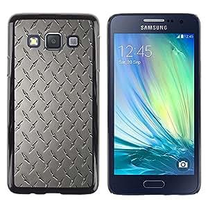 TECHCASE**Cubierta de la caja de protección la piel dura para el ** Samsung Galaxy A3 SM-A300 ** Wall Art Design Grey Classic Interior Pattern
