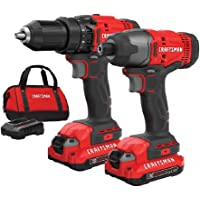 Lowes.com deals on CRAFTSMAN V20 Cordless Drill Combo Kit 2 Tool CMCK200C2