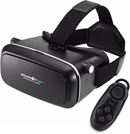 Amazon Com Blitzwolf Vr Headset 3d Viewer Glasses Remote Controller Virtual Reality Box Movies Games Helmet Google Cardboard Upgraded For Ios Iphone 6 6s Plus Android Samsung Galaxy S5 S6 S7 Edge