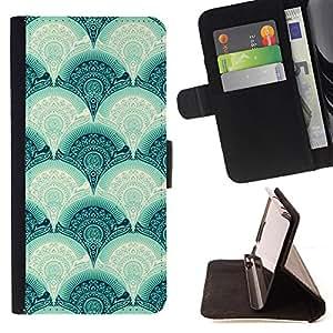 - Scale Pattern Vintage Retro - Estilo PU billetera de cuero del soporte del tir???¡¯???3n [solapa de cierre] Cubierta- For LG Nexus 5 D820 D821 ( Devil Case )