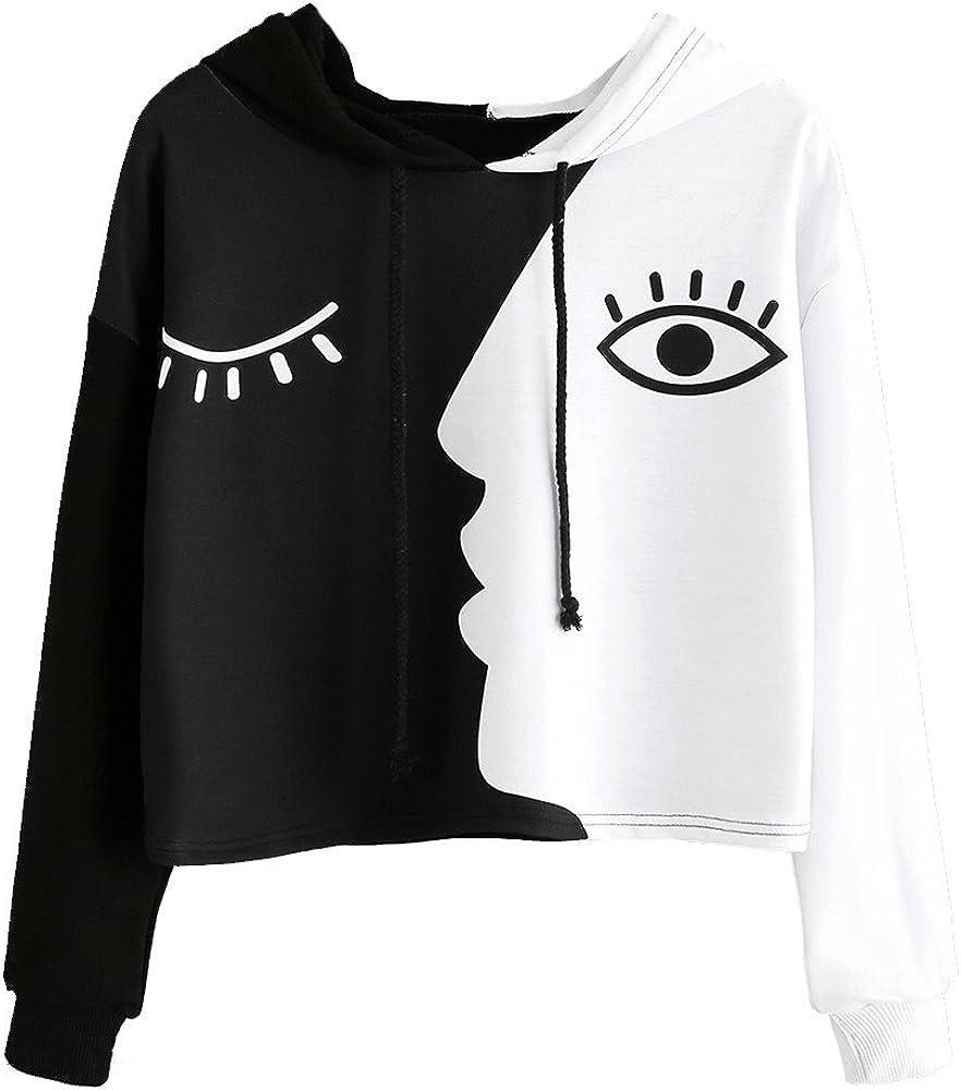 Joyionier Women Blouse Long Sleeve Pullover Teen Girls Cute Crop Tops Fashion Plus Size Asymmetrical Shirt