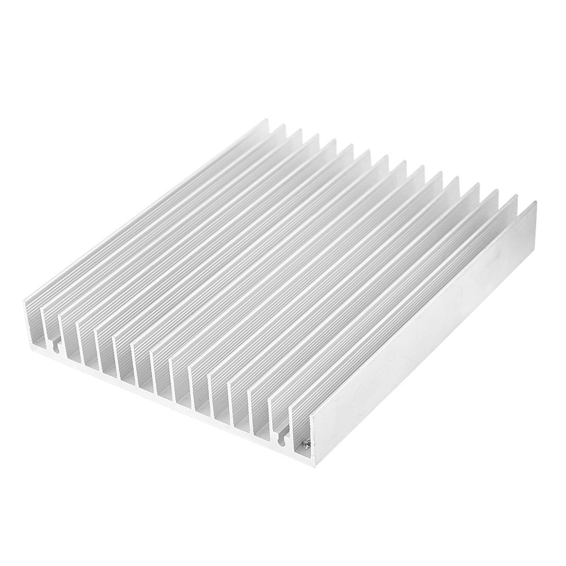 Uxcell a14041100ux0543 Aluminum Heat Diffuse Heat Sink Cooling Fin 120x100x18mm Silver Tone