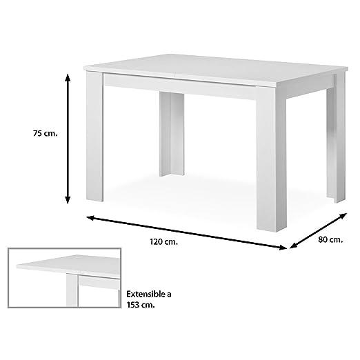 Muebles Baratos Mesa de Comedor Extensible Color Blanco ...