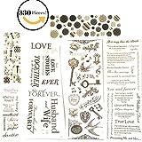 123 Piece! Wedding, Anniversary & Love Theme Scrapbook Sticker Kit - Value Pack!