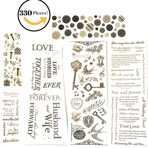 123 Piece! Wedding, Anniversary & Love Theme Scrapbook Sticker Kit - Value Pack! by Momenta