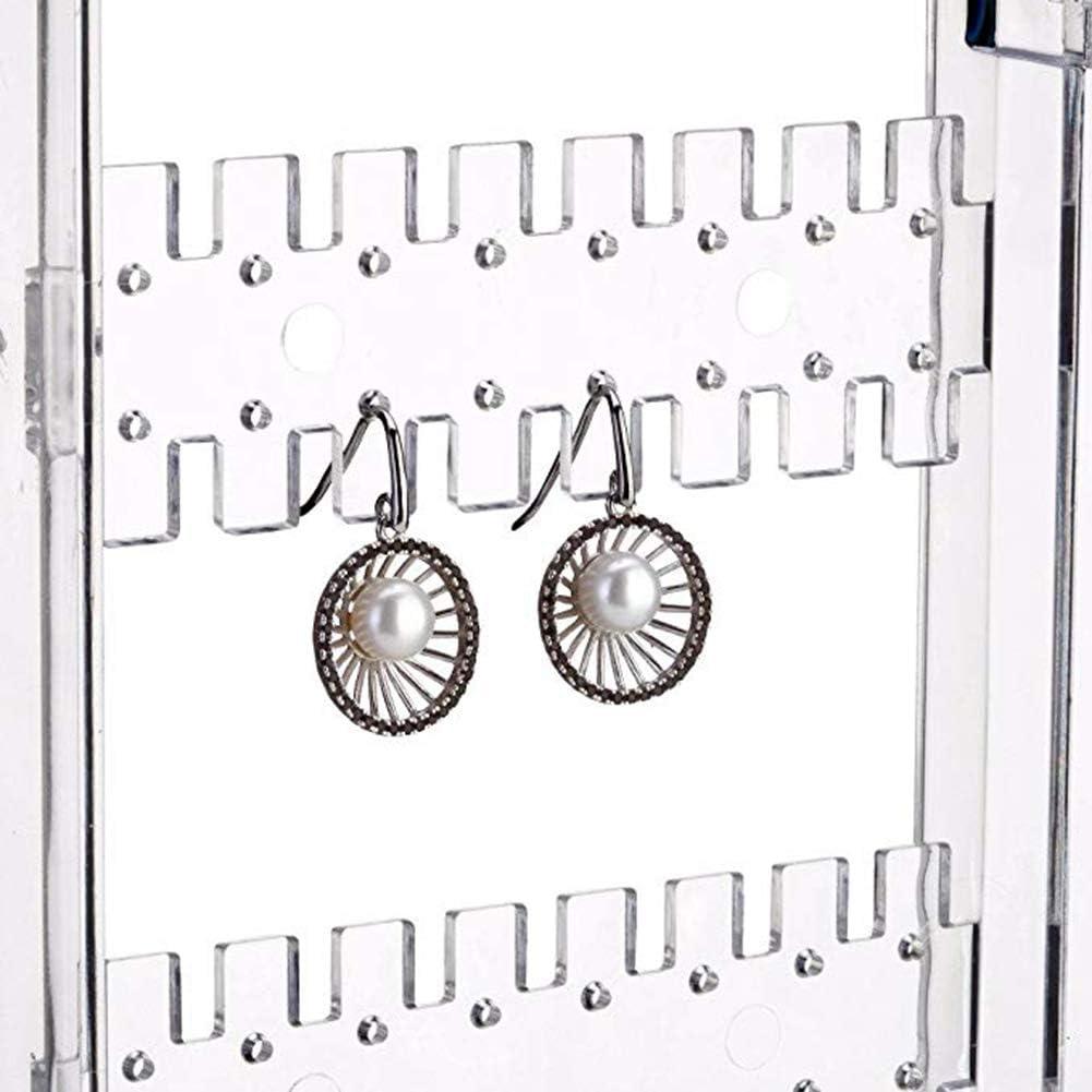 Support de Rangement Pliable /à 5 /étages en Acrylique pour Boucles d/'Oreilles Bijoux Colliers Transparent Double Face