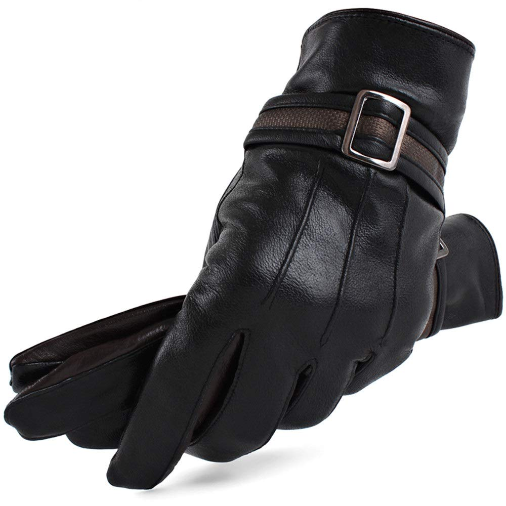 Woisha Winter Driving Thick Warm Warm Winter Cycling Driving Leather Gloves