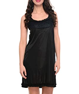 6ab778dc17 Klamotten Women s Satin Nightdress (YY67 Navy Blue Free Size ...