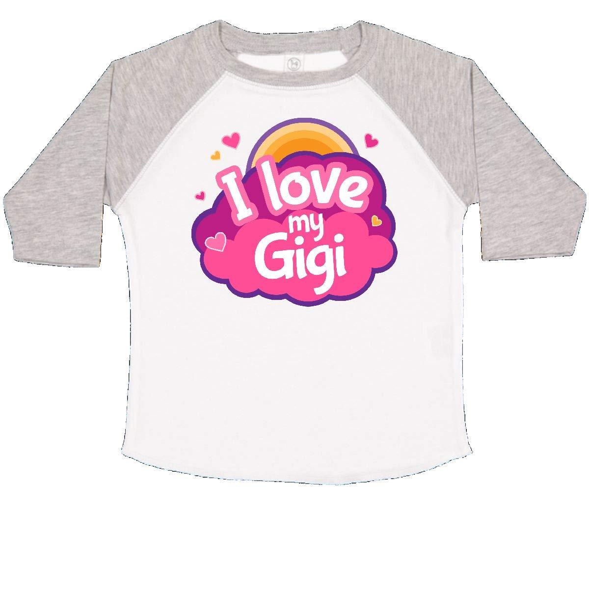 inktastic I Love My Gigi Grandma Grandchild Toddler T-Shirt