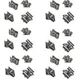 PROLINEMAX 100 Pc Chrome Gridwall Joining Connectors Grid Panel Joiner Clips Joining Clamps