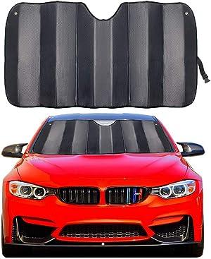 MCBUTY Car Windshield Sunshade Thicken 5-Layer UV Reflector Auto Front Window Sun Shade Visor Shield Cover,Keep Vehicle Cool(Gary,57