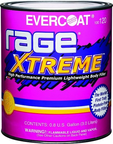 Light Filler (Evercoat 120 Rage Xtreme High Performance Premium Lightweight Body Filler - 0.8 Gallon)