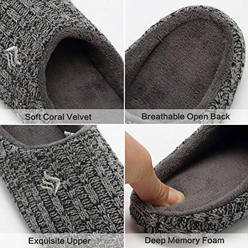 Autumn Fanture Knitted Black Cotton Memory Gray Slip Cashmere House Womens Slippers Anti Indoor Winter Foam wnAxaFzwq