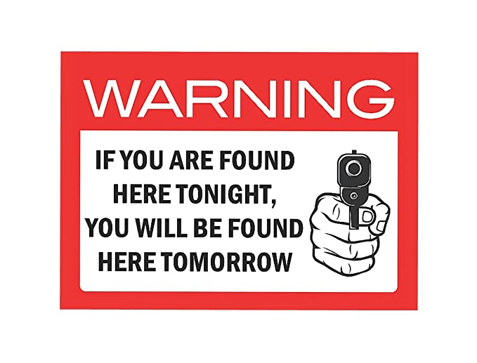 Warning If Found Here Tonight You Will Be Found Here Tomorrow Tin Sign