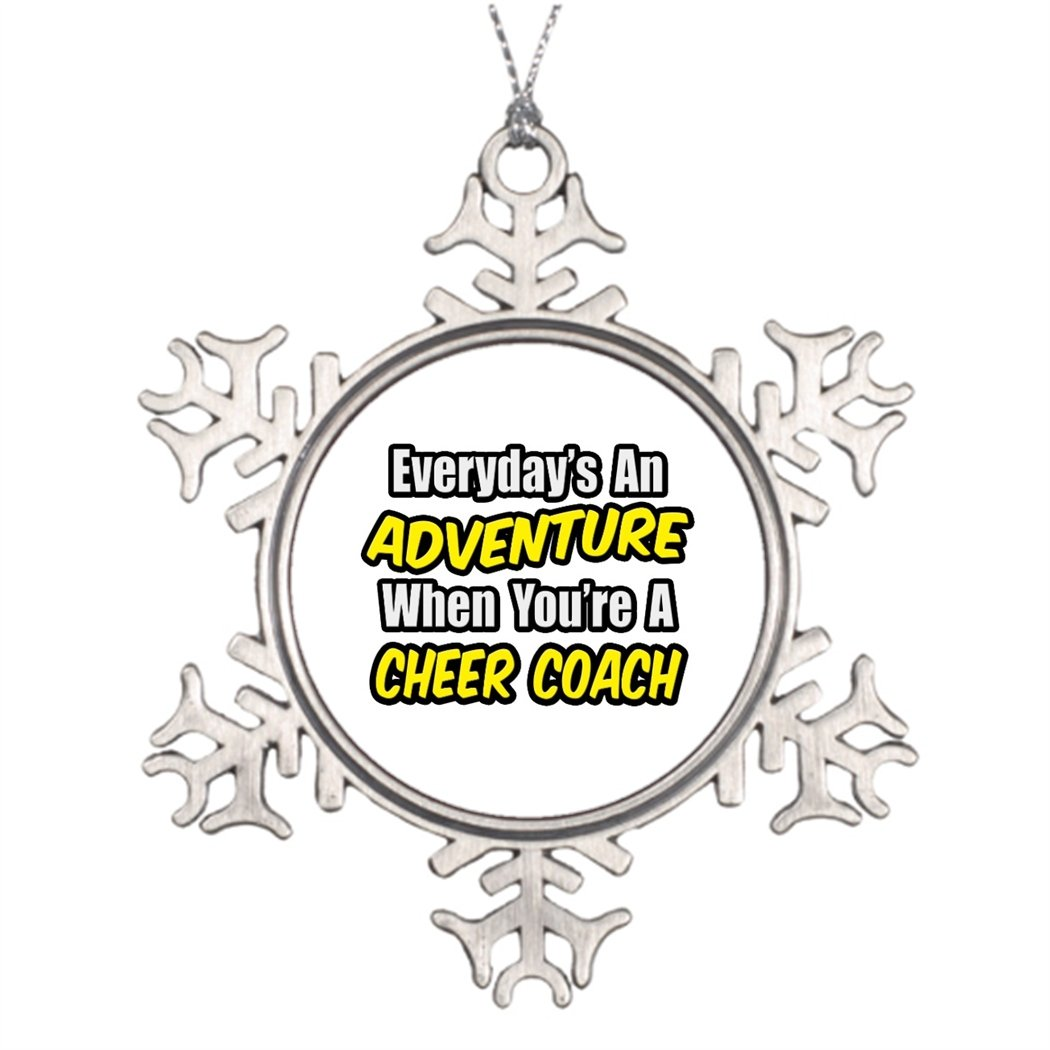 Moc Moc Personalized Christmas Snowflake Ornaments Everyday's An Adventure...Cheer Coach Outdoor Xmas Decorations Christmas Home Decoration