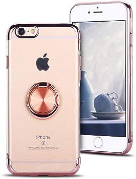 funda iphone 6s transparente oro rosa