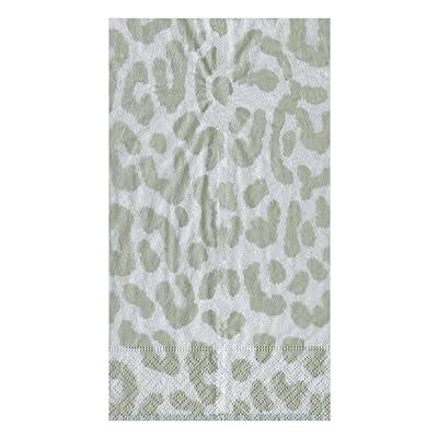 .com | Caspari Zanzibar Paper Guest Towel Napkins in Silver, Four Packs of 15: Cocktail Napkins