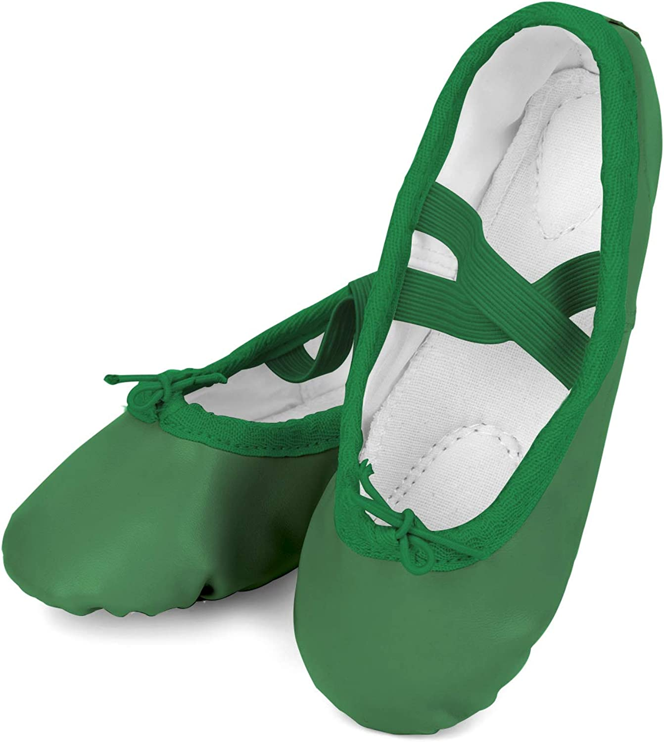 Toddler Girls Boys Ankle Strap Ballet Dance Shoes Athletic Ballet Slippers Green 10-10.5 Toddler