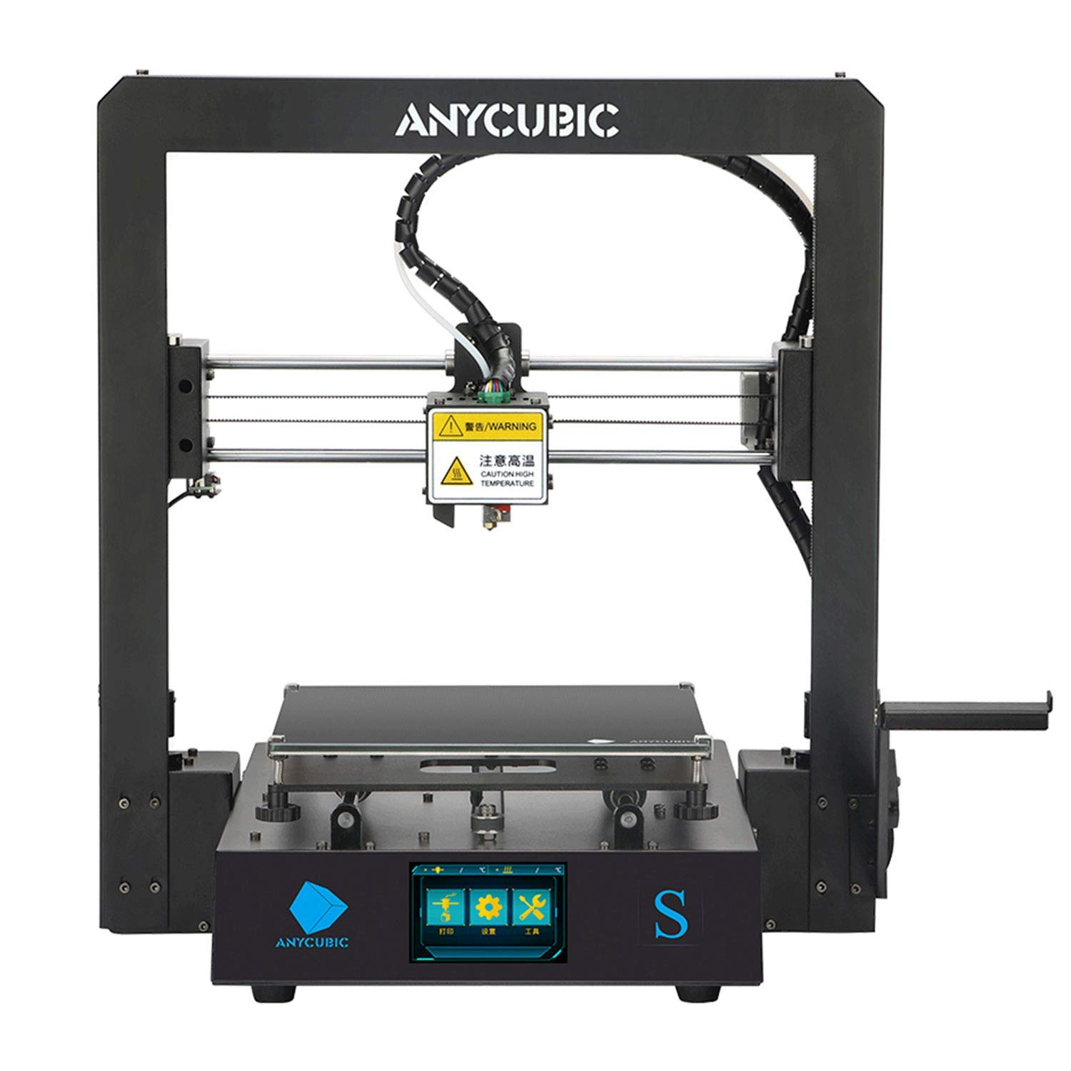 ANYCUBIC MEGA S FDM 3D Printer with Updated Extruder, All Metal Frame, Free Test Filament, DIY Printer Works with TPU/PLA/ABS Print Size 8.27(L) x 8.27(W) x 8.07(H) inches