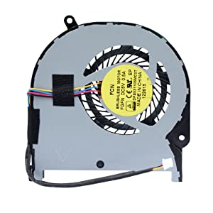 Eathtek Replacement CPU Cooling Fan for Toshiba Satellite Radius P55W-C P55W-C5200X P55W-C5200D P55W-C5314 P55W-C5208X Series, Compatible Part Number DFS531105MC0T (4 Pin 4-Wire)