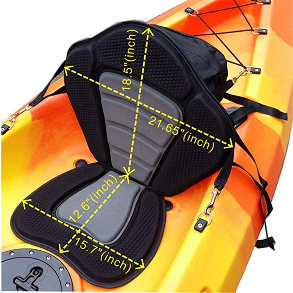 starter Asiento De Kayak Acolchado Coj/ín De Espuma C/ómodo Y Ajustable Asiento Acolchado En La Parte Superior Asiento De Kayak//Canoa para Pescar Al Aire Libre Picnic