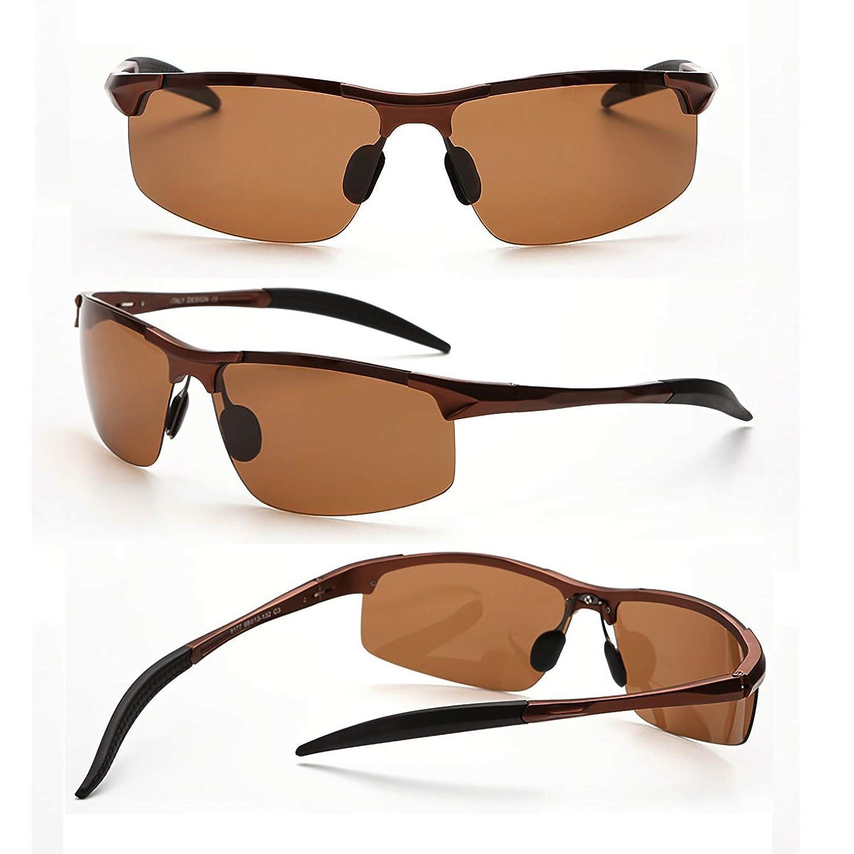 73ef5872da6 MOORAY Mens Sports Polarized Sunglasses UV Protection Fashion Sunglasses  for Men Fishing Driving