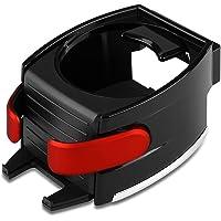 VORCOOL 2in1 Car Cup Holder Adjusting Hook Water Bottle Holder Air Vent Phone Holder Bracket (Black) Red