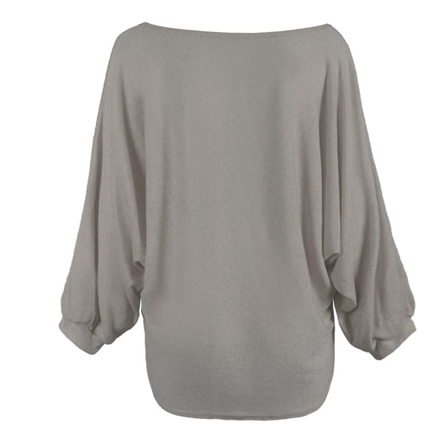 Smile YKK Womens Batwing Sleeve Sweater Knitting Pullover Loose Blouse Top
