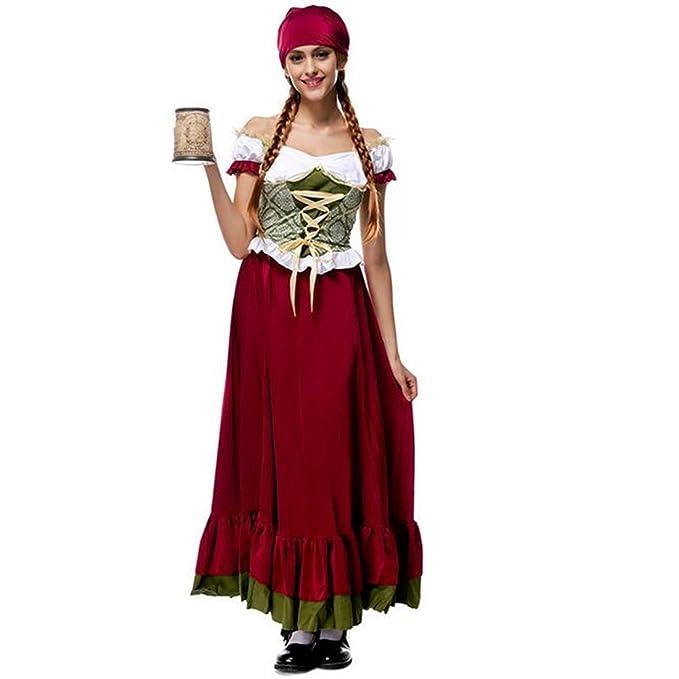 eaststar Mujer Disfraz De Niña De Cerveza de Baviera, falda larga ...