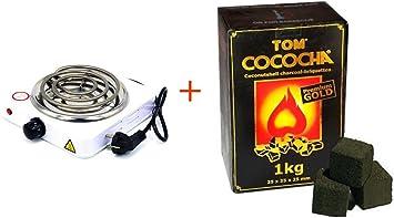 FumandoEspero ¡Pack Especial! Hornillo Eléctrico + Carbón ...
