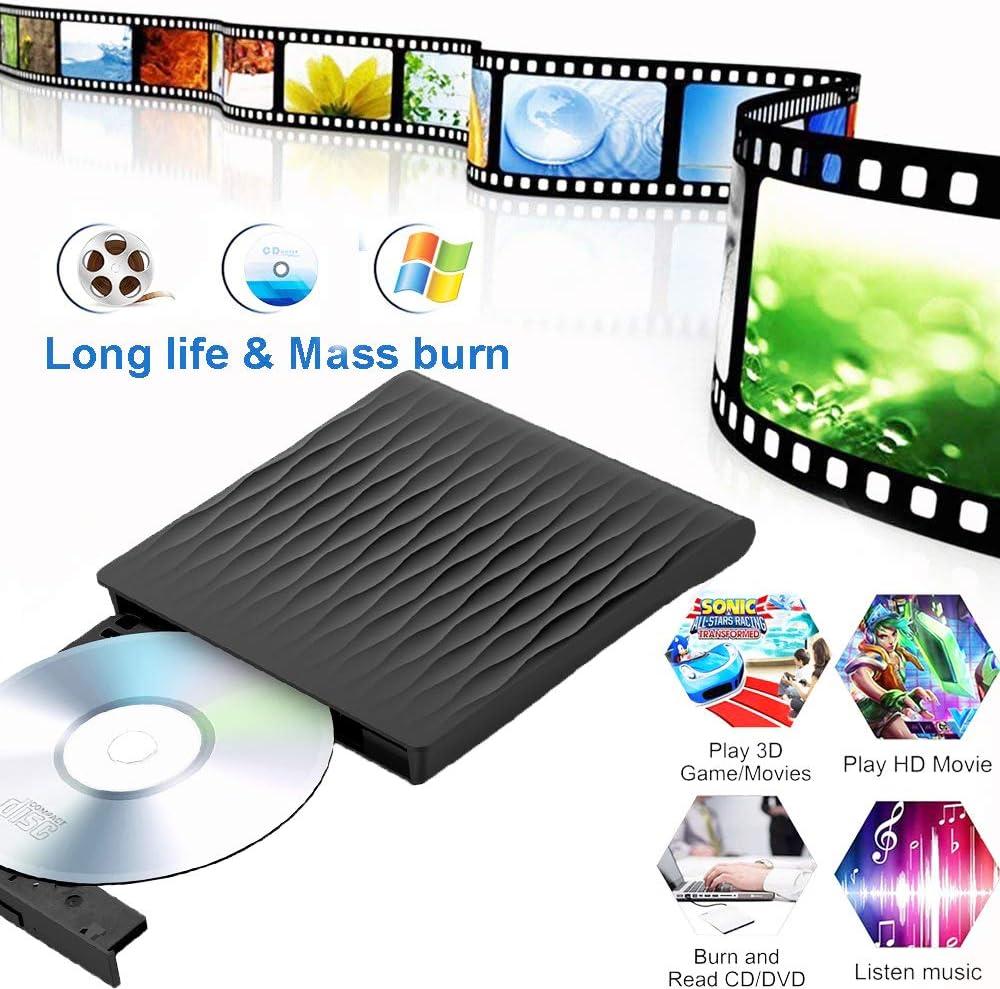 Fancartuk Unidad Externa BLU Ray DVD, USB 3.0, Grabador de CD, DVD ...
