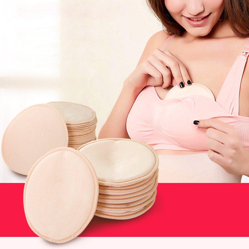 Waschbare Stilleinlagen, Samber 10er-Pack Baumwolle Stilleinlagen, Weich, Atmungsaktiv, Wasserdicht, Saugfähig, Auslaufsichere und Wiederverwendbare Breastfeeding Pads Saugfähig