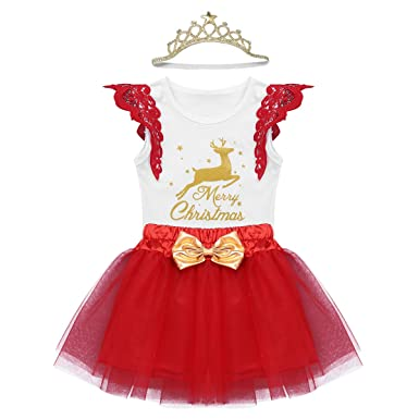 Agoky Vestido Navidad de Papá Noel Bebé Niña Conjunto Disfraces ...