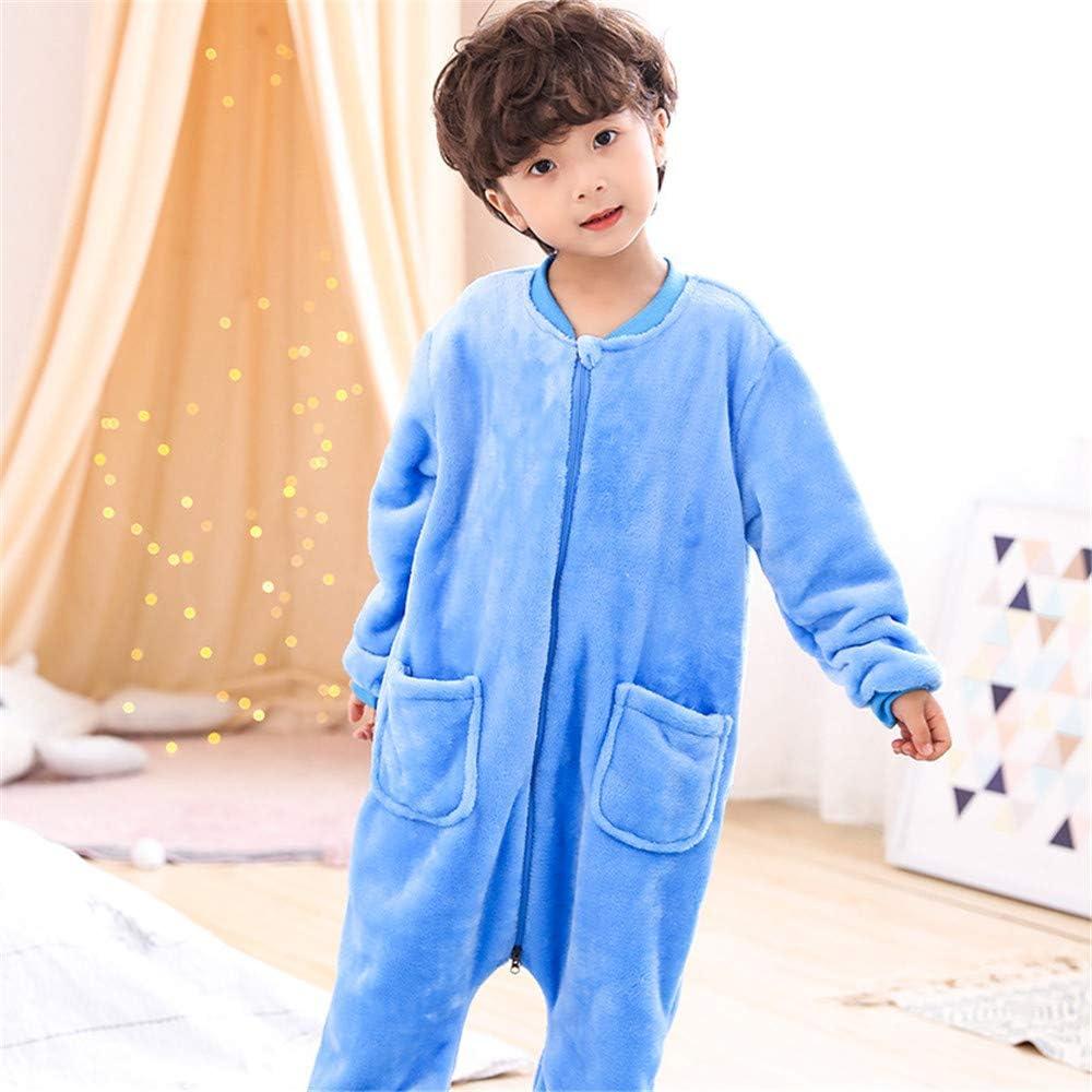 Los niños del saco de dormir, los niños del mono para niño y niña en 3-12 años, paño grueso y suave del cuello con capucha, sin base Traje, super gruesa de invierno
