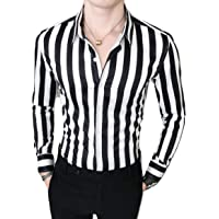 Peppyzone Men's Striped Cotton Slim Fit Full Sleeve Shirt