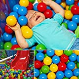 AHZZY Colorful Ball Soft Plastic Ocean Ball, Baby Kids Swim Pit Balls Toy for Parties Events Playground Games Pool size 200Pcs (Colorful)