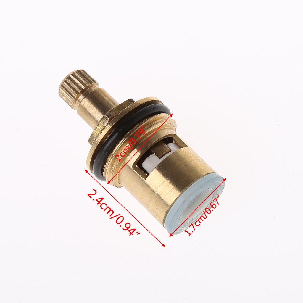 DAchun11 2 piezas de repuesto de grifo lat/ón 1//4 de giro G1//2 cartucho de disco de cer/ámica v/álvula de fr/ío caliente