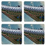gable roof designs MSD Square Coasters Non-Slip Natural Rubber Desk Coasters design 34624426 The gable roof of Deoksugung palace Seoul South Korea