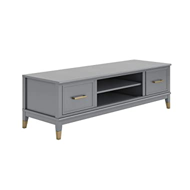 Westerleigh TV Stand for TVs up to 65 , Graphite Gray