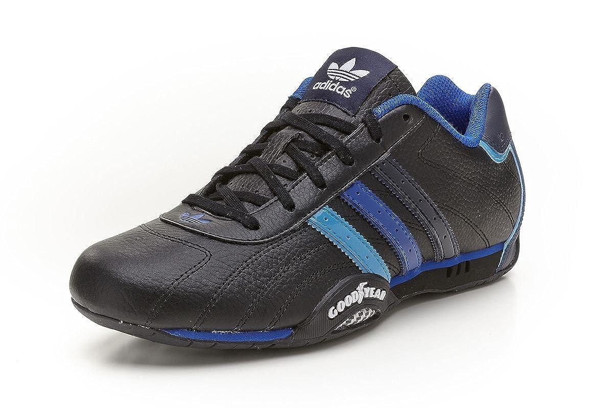 55f313f42a1e95 adidas Originals goodyear adi Racer Low trainers black blue Q23613 UK 8.5    Amazon.co.uk  Shoes   Bags