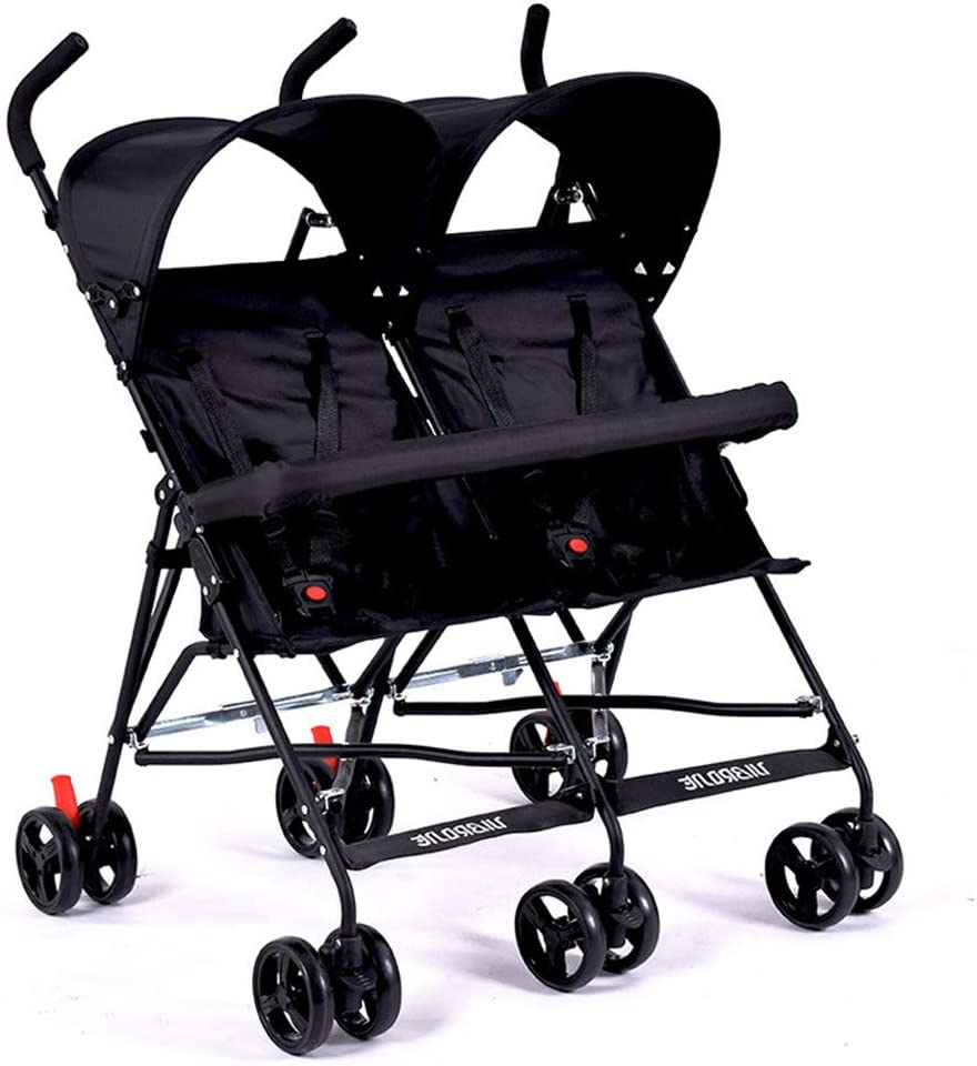 WYX-Stroller Cochecito De Gemelos Ultraligero, Cochecito Doble Portátil, Cochecito De Bebé para Gemelos, Coche De Paraguas para Niños De 2 Asientos,c