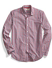 Men's Standard-Fit Long-Sleeve Two-Color Gingham Shirt
