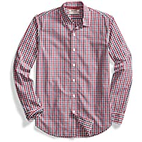 goodthreads de los hombres standard-fit Long-Sleeve Two-Color Gingham camisa