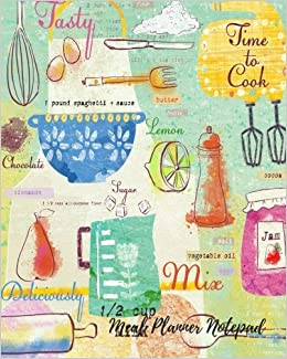 Meal Planner Notepad: Note Pad Journal With Shopping list