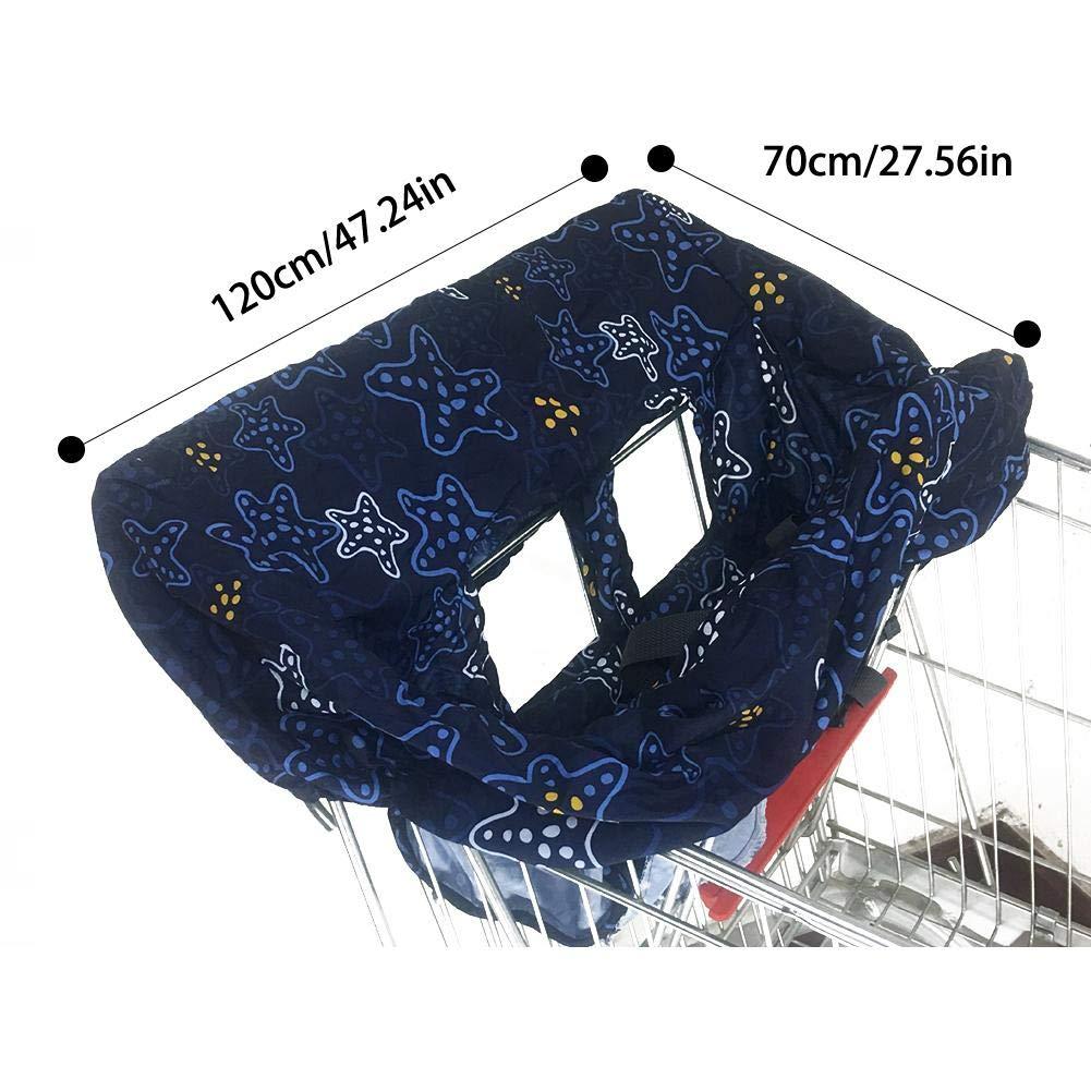 Leicht und Kompakt Einkaufswagenschutz f/ür Babys oder Kleinkinder Faltbare Schutz-Abdeckung f/ür Einkaufswagen und Hochstuhl